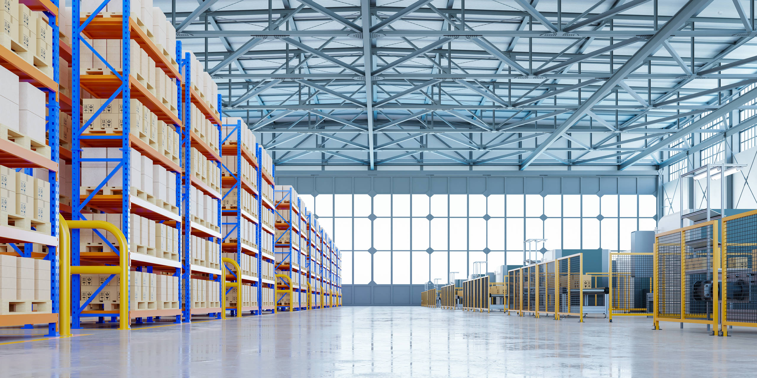 Interior of 3PL warehouse open for storage and additional warehousing services.